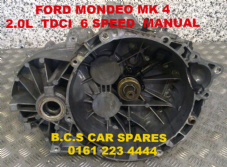 FORD  MONDEO MK 4   GEARBOX  MANUAL  6 Speed   37K MILES  ( 6 MTHS WARRANTY )